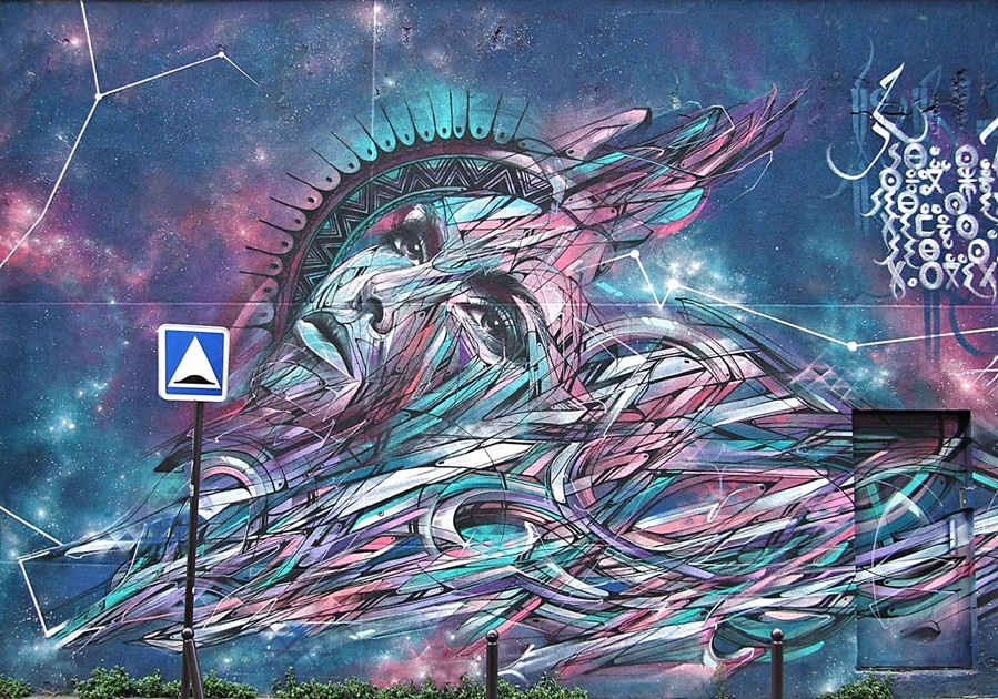 Hopare Galaxy Street Art Belleville Paris