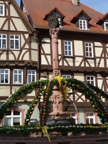 Renaissance well Miltenberg Germany