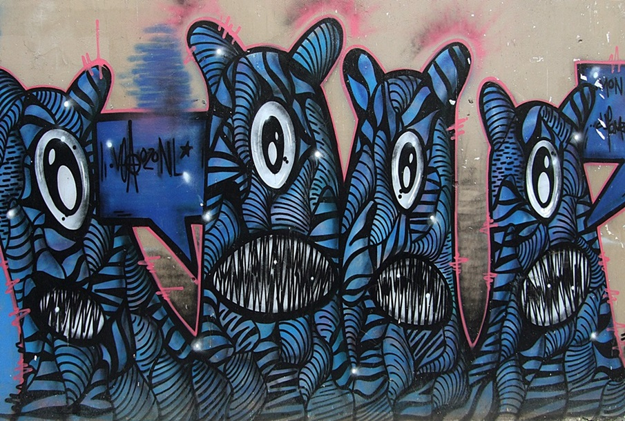 Monsters Street Art Belleville Paris