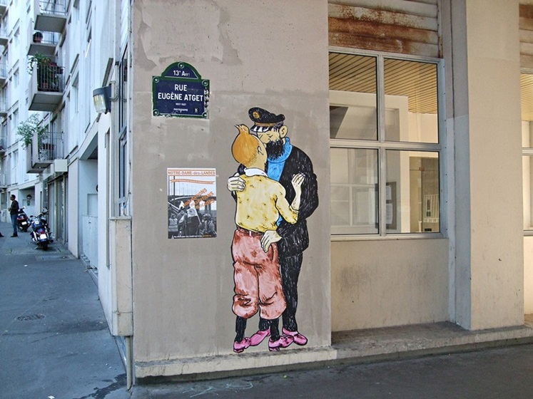 Tintin Street Art Paris 13