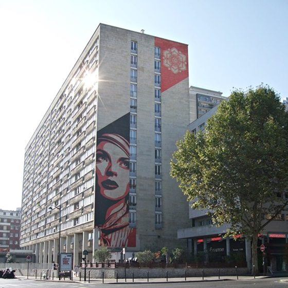 1) Obey - 93 Rue Jeanne d'Arc (Street Art Paris 13)