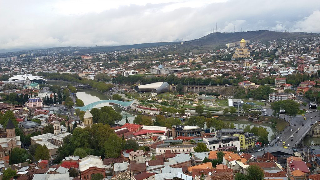 Georgia panorama view; Travel Tbilisi