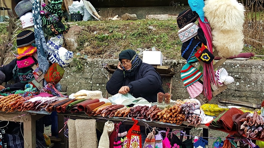 Street Vendor Georgian Sweets Kazbegi Georgia • Travel Georgia