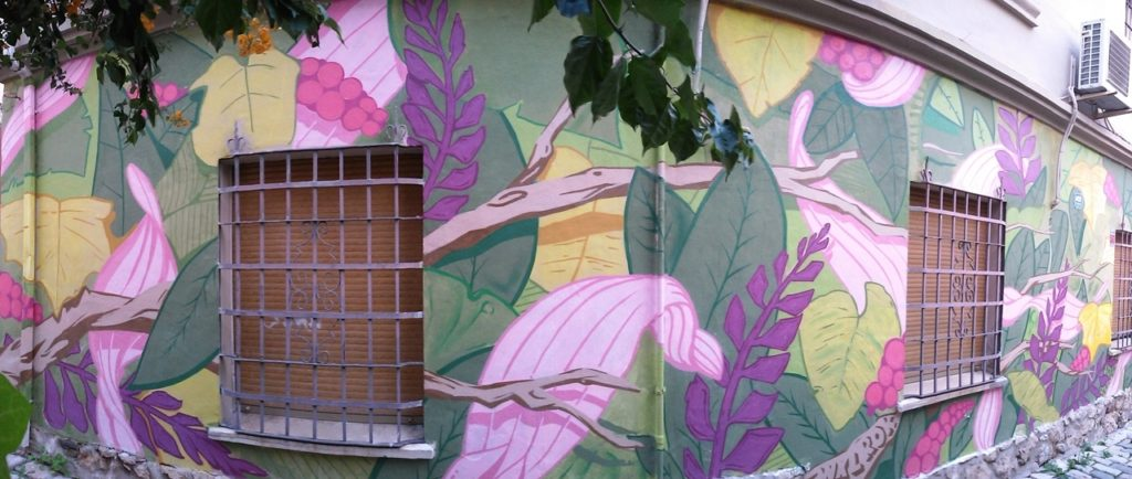 Colorful Leaves Street Art, MAUS Project SOHO, Street Art Malaga Lagunillas