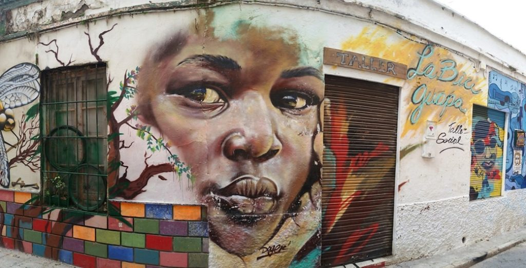 Black Girl Street Art, MAUS Project SOHO, Street Art Malaga Lagunillas