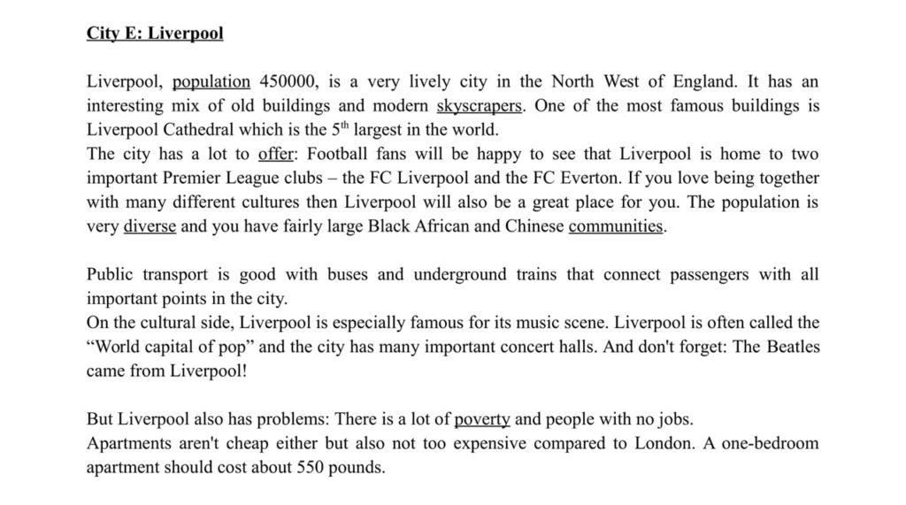 ESL Lesson Materials - Liverpool Text