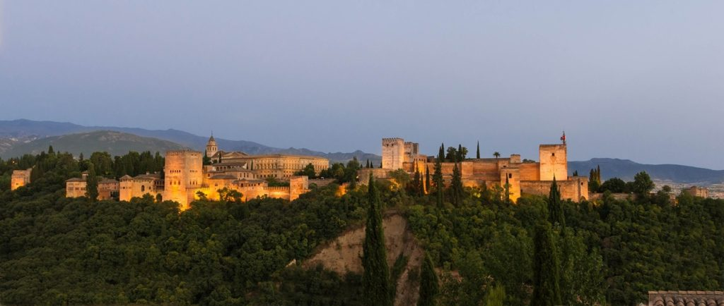 The Alhambra of Granada at night • Travel Granada Alhambra