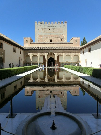 Travel Granada Alhambra • Comares Palace Court of the Myrtles