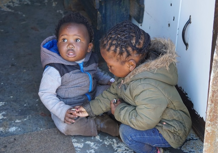 Township Soweto children playing • South Africa Travel Guide