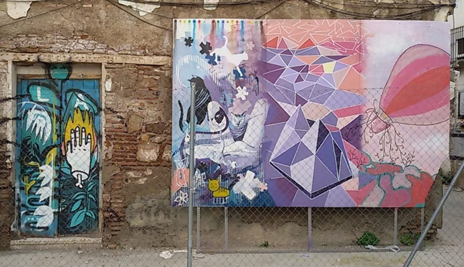 Pinkish Street Art, MAUS Project SOHO, Street Art Malaga Lagunillas