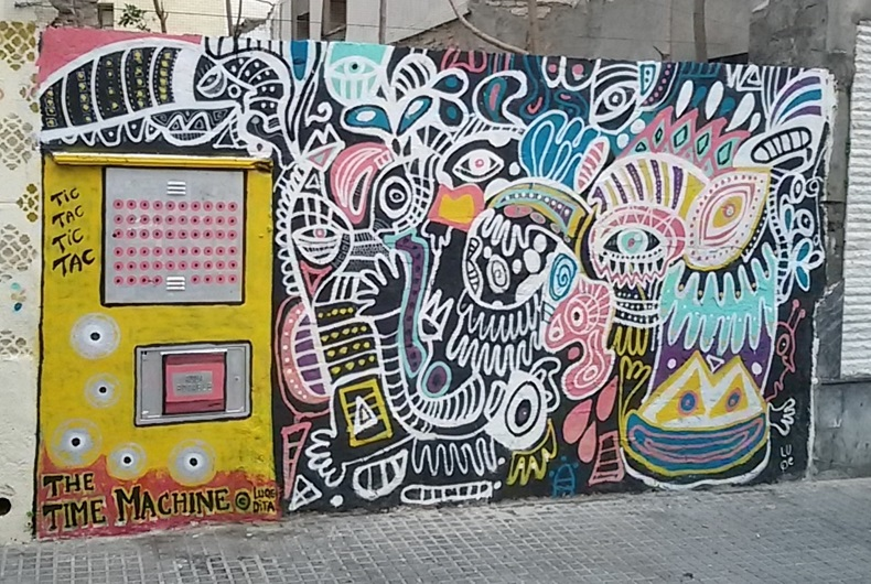 Time Machine Street Art, MAUS Project SOHO, Street Art Malaga Lagunillas